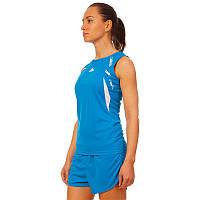 Форма для легкой атлетики женская LD-8308-2  (полиэстер, р-р L-2XL(44-50), синий-белый)