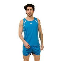 Форма для легкой атлетики мужская LD-8307-2 (полиэстер, р-р M-3XL-160-185см, синий-белый)