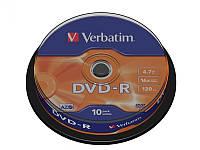 Диск VERBATIM DVD-R 4,7Gb 16x Cake 10 pcs 43523