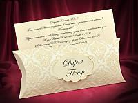 Красивые пригласительные на свадьбу цвета айвори (арт. 5505)
