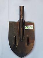 Лопата  копальная остроконечная с ребрами жёсткости. УРАГАН (рельсовая сталь)