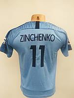 Футбольная форма детская и стиле Puma Manchester Citi Zinchenko 2018-19