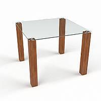 """Столик стеклянный """"Квадрат прозрачный"""" стол для гостинной или кухни"""