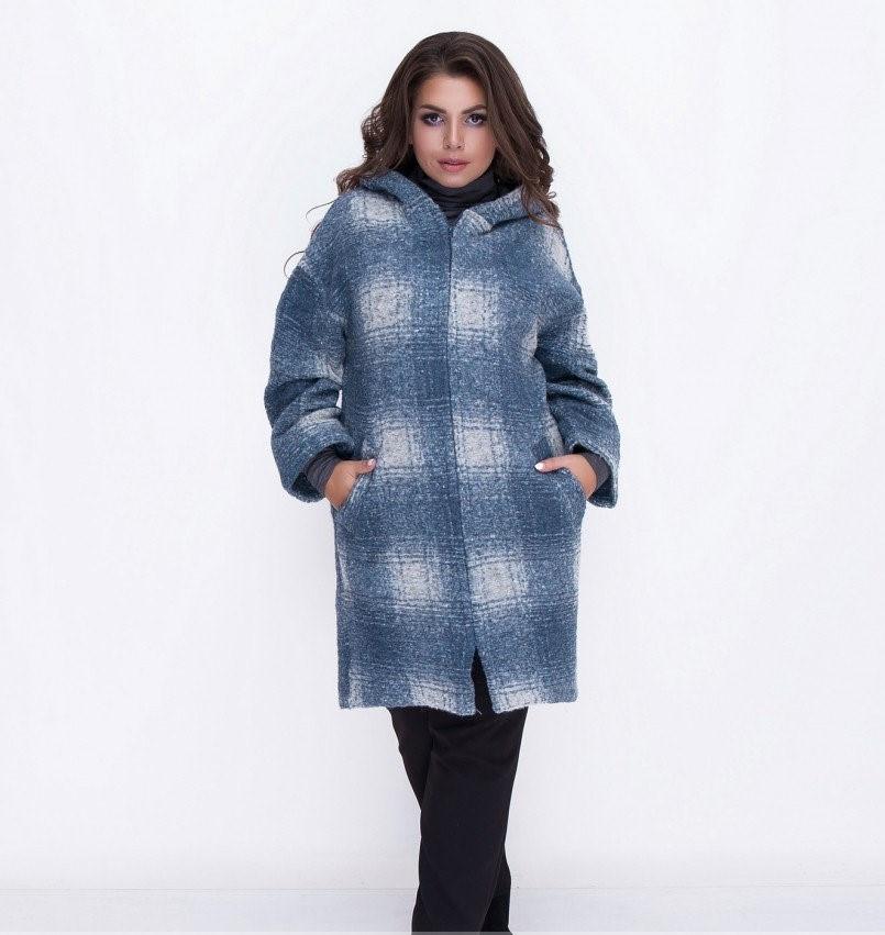 Пальто дополнено капюшоном и карманами №5036.34-молоко