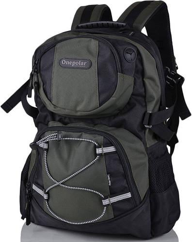 Мужской рюкзак для ноутбука 15 дюймов Onepolar W1312-green зелёный