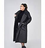 Пальто на диагональной змейке №1690-1-черный, фото 3