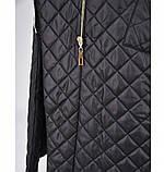 Пальто на диагональной змейке №1690-1-черный, фото 4