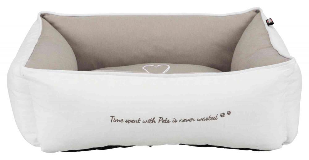 Ліжко Pet's Home 60см*50 см Trixie білий-бежевий для собак та котів