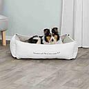 Ліжко Pet's Home 60см*50 см Trixie білий-бежевий для собак та котів, фото 3
