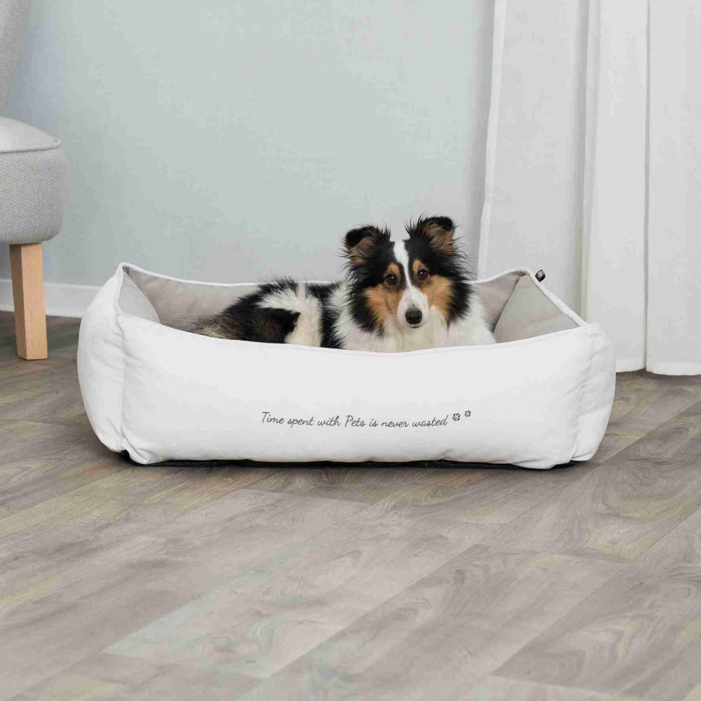 Ліжко Pet's Home 80см*60 см Trixie білий-бежевий для собак