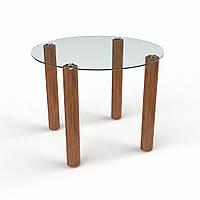 """Столик стеклянный """"Круглый прозрачный"""" стол для гостинной или кухни"""