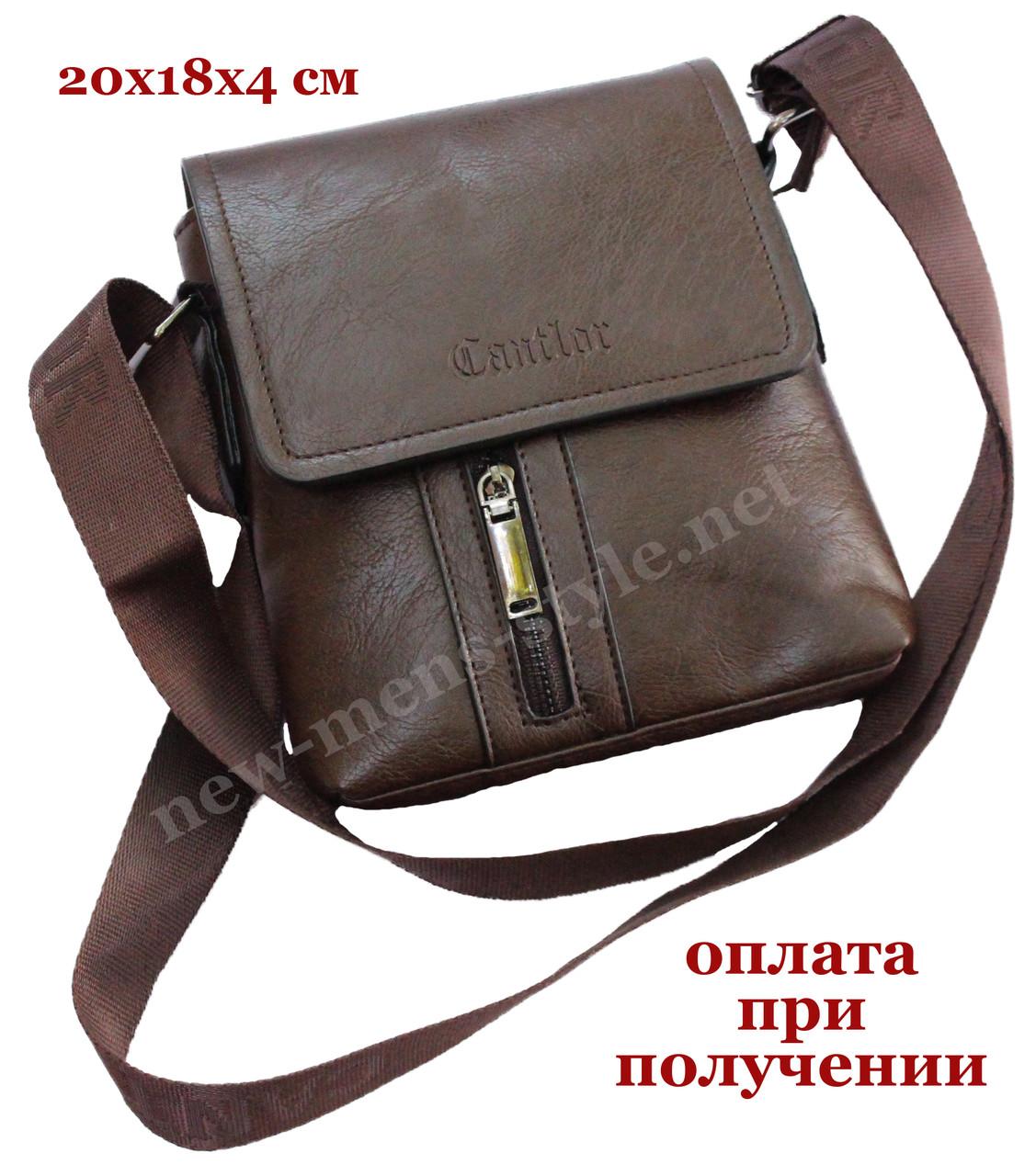 Чоловіча фірмова чоловіча шкіряна сумка барсетка барсетка через плече Cantlor