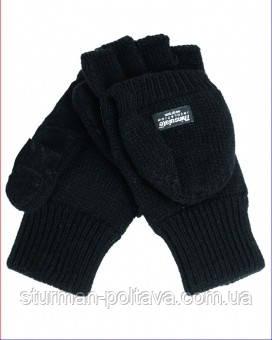 Перчатки -варяжки  акриловые с утеплителем черные