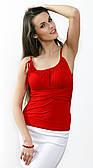 Летняя блузка женская красного цвета, распродажа. Модель 152 Mirabelle.