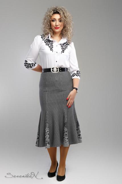 Стильная женская юбка-годе  больших размеров с 54 по 60 размер