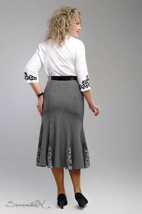 Стильная женская юбка-годе  больших размеров с 54 по 60 размер, фото 2