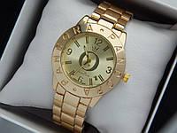 Жіночі кварцові наручні годинники Пандора (Pandora) золото, з золотим циферблатом, фото 1