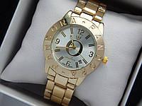 Жіночі кварцові наручні годинники Пандора (Pandora) золото, з срібним циферблатом, фото 1