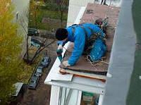 Герметизация козырьков, отливов, балконов, устранение протечек