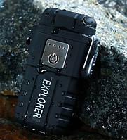 Вологозахищена електроімпульсна запальничка SUNROZ GV-317 Explorer акумуляторнаUSB Чорний (SUN5537)