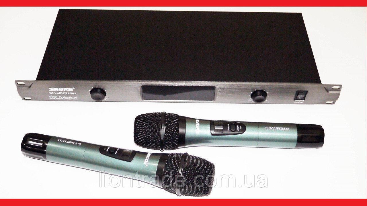 Радіосистема Shure BLX4/BETA58A UHF база 2 радіомікрофона