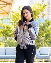 """Женская демисезонная куртка-бомбер """"MONC"""" с карманами, фото 2"""