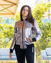"""Женская демисезонная куртка-бомбер """"MONC"""" с карманами, фото 3"""