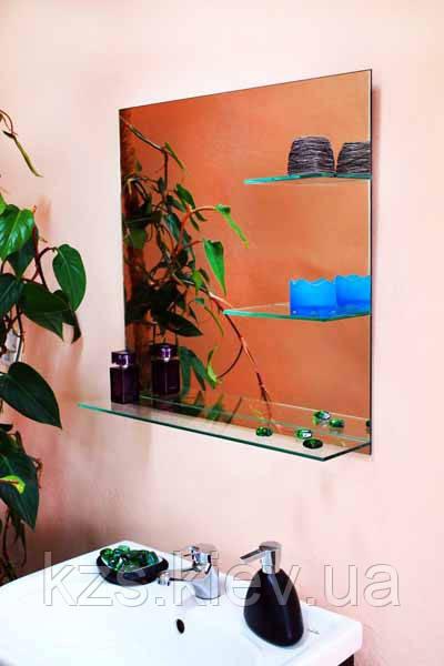 Зеркало настенное с полкой арт.149