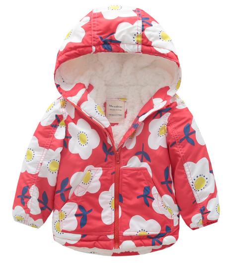 Детская куртка для девочки на махре 100, 110, 120, 130