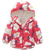 Детская куртка для девочки на махре 100, 110, 120