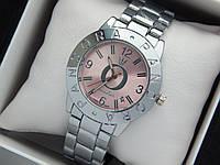 Жіночі кварцові наручні годинники Пандора (Pandora) срібло з рожевим циферблатом, фото 1