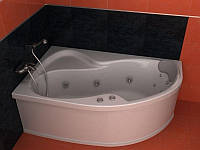 Гидромассажная асимметричная ванна 150х105 KollerPool Montana Hydro Optimal левая, 1500х1050х450 мм