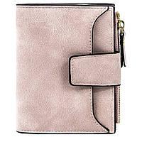 ☀Замшевый женский кошелек Baellerry N2347 Light Pink мини для женщин и девушек