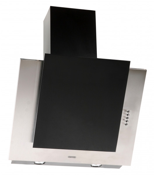 Кухонная вытяжка Eleyus Титан LED А 750 IS+BL / 60 (нержавейка + стекло черное)