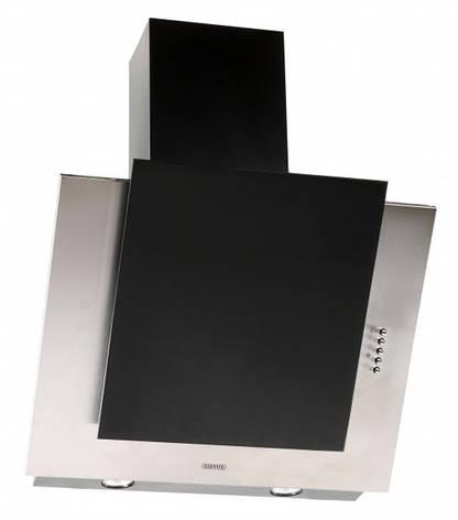 Кухонная вытяжка Eleyus Титан LED А 750 IS+BL / 60 (нержавейка + стекло черное), фото 2