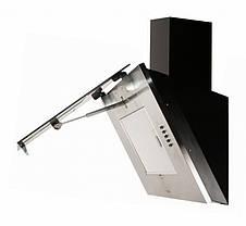 Кухонная вытяжка Eleyus Титан LED А 750 IS+BL / 60 (нержавейка + стекло черное), фото 3