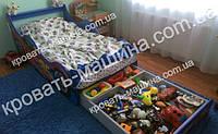 Кровать машина Тачки Шок Драйв с ящиком