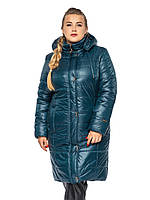 Удлиненная женская зимняя куртка батал