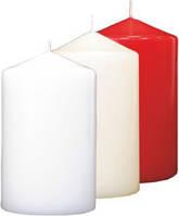 Свечи-цилиндры декоративные интерьерные 30h белые
