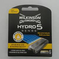 Кассеты Schick Wilkinson Sword  Hydro 5 Sensе Energize 6 шт. (Шик гидро 5)