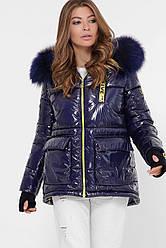 Женская зимняя куртка из лаковой плащевки