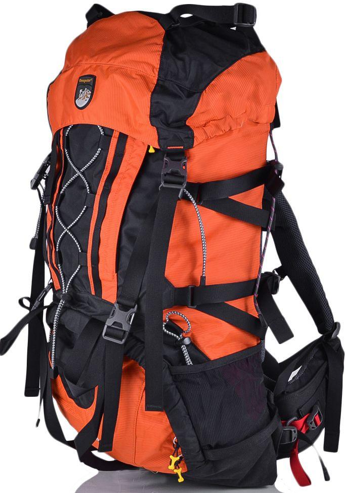Рюкзак туристический, походный 65+10 л. Onepolar (Ванполар) W1363-orange оранжевый с черным