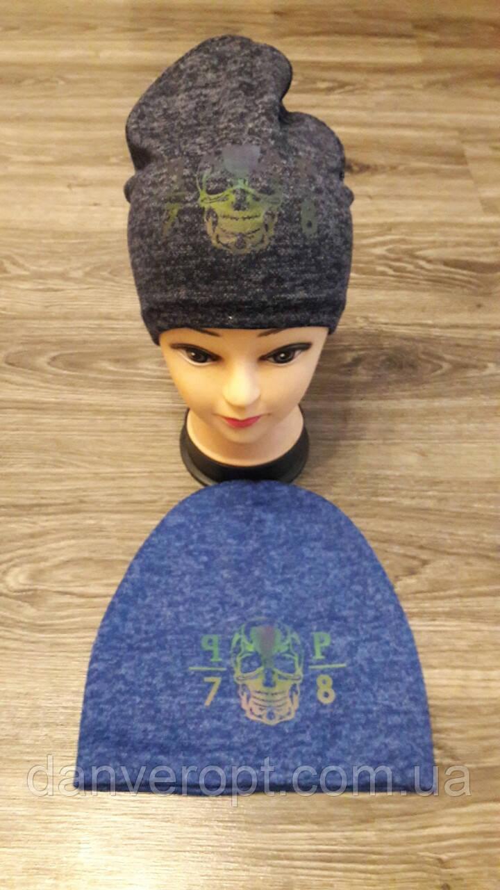 Шапка подростковая стильная на мальчика размер 54-55 см купить оптом со склада 7км Одесса