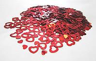 Конфетти Сердечки Красные, 1 см 20 грамм
