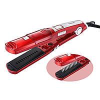 Утюжок-выпрямитель с паровым распылителем для волос Kemei ZFQ-KM-3011 65 W