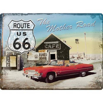 Табличка Nostalgic-Art Route 66 The Mother Road (20371)