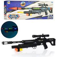 Детская снайперская винтовка с мягкими пулями-присосками со свето-звуковыми эффектами, 929-60