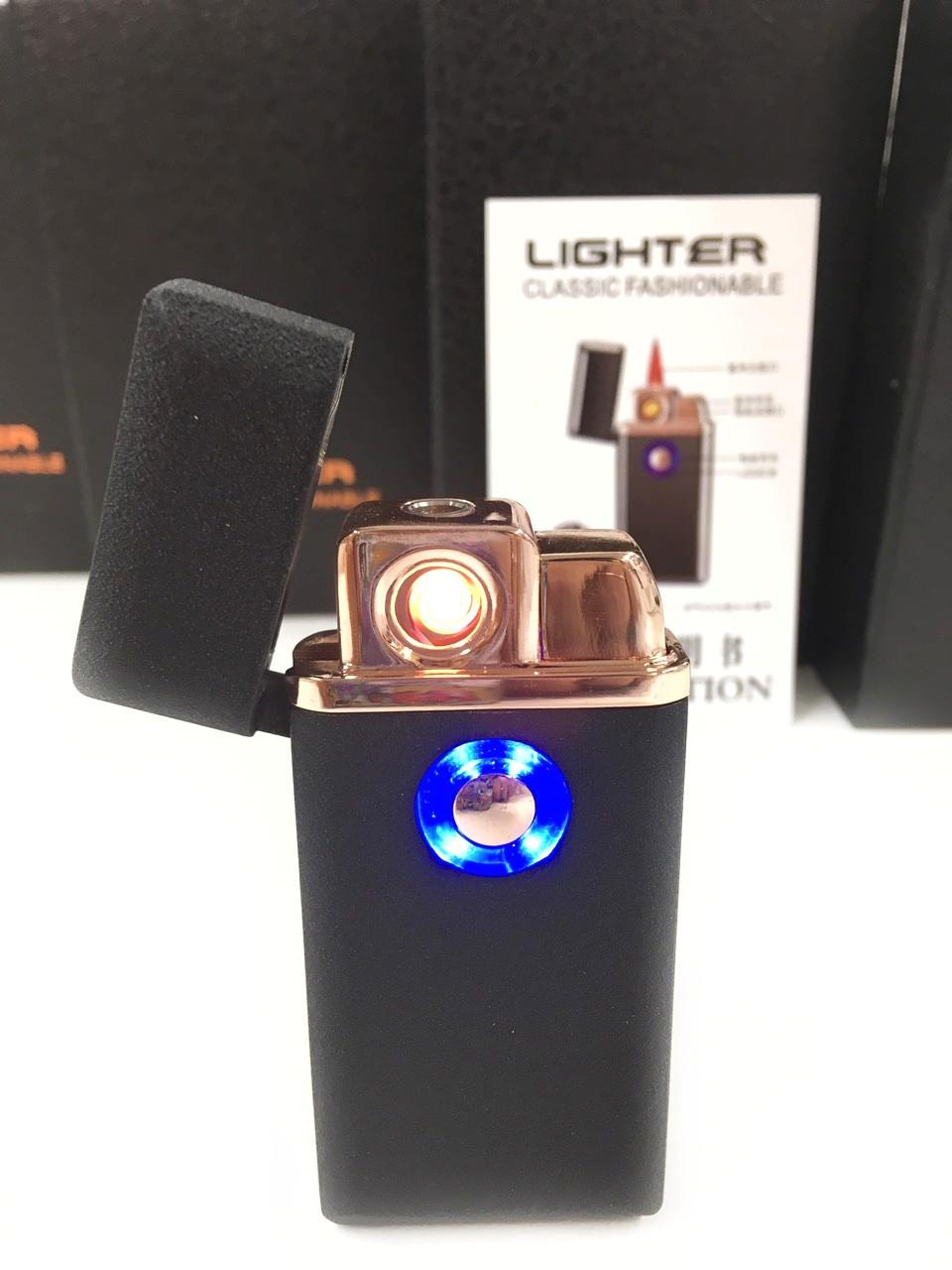 Электроимпульсная зажигалка USB+ ГАЗ (2/1)  LIGHTER