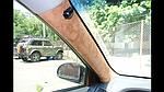 Перетяжка автомобильных стоек корейской алькантарой (ВИДЕО)