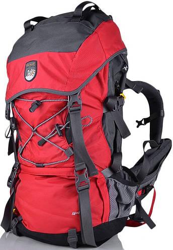 Рюкзак туриста, походный рюкзак 60 л. Onepolar W1365-red черный с красным